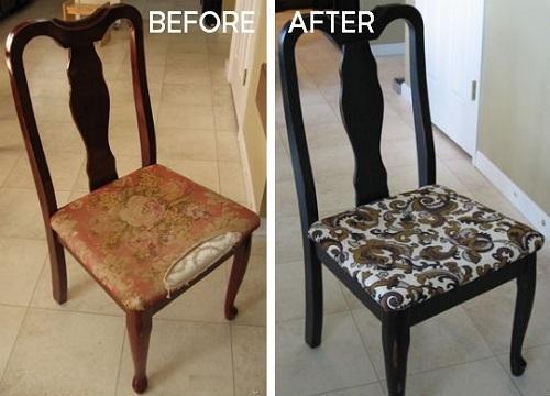 Как обтянуть стул в домашних условиях. Мастер-класс 45