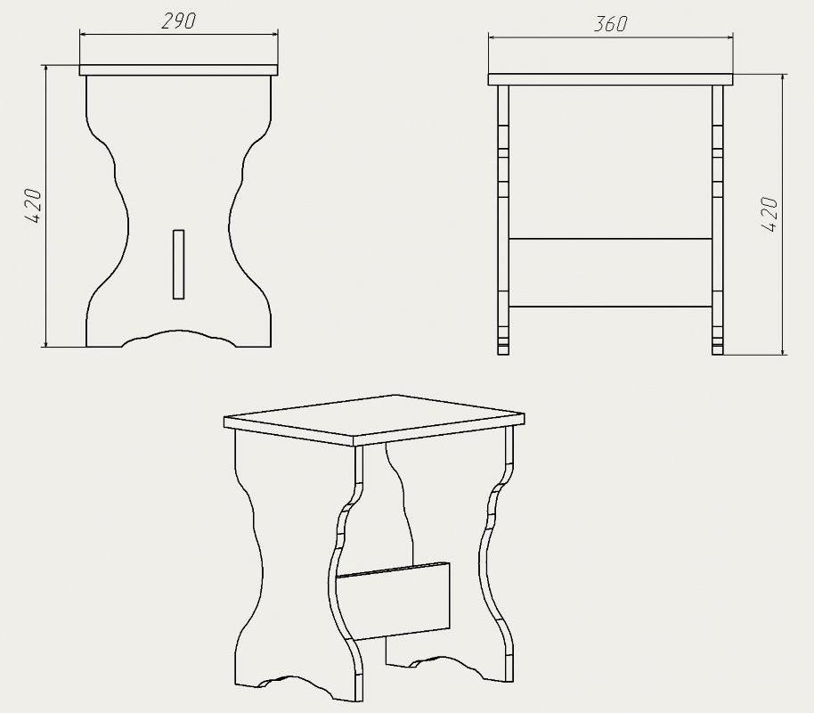 Стул для кухни своими руками чертежи