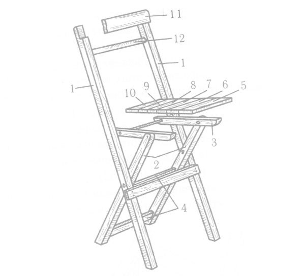 Складной стул со спинкой своими руками схема 725