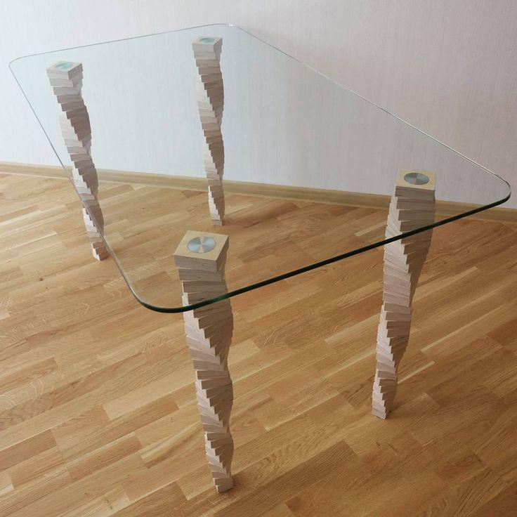 Сделать ножки для стеклянного стола своими руками 35
