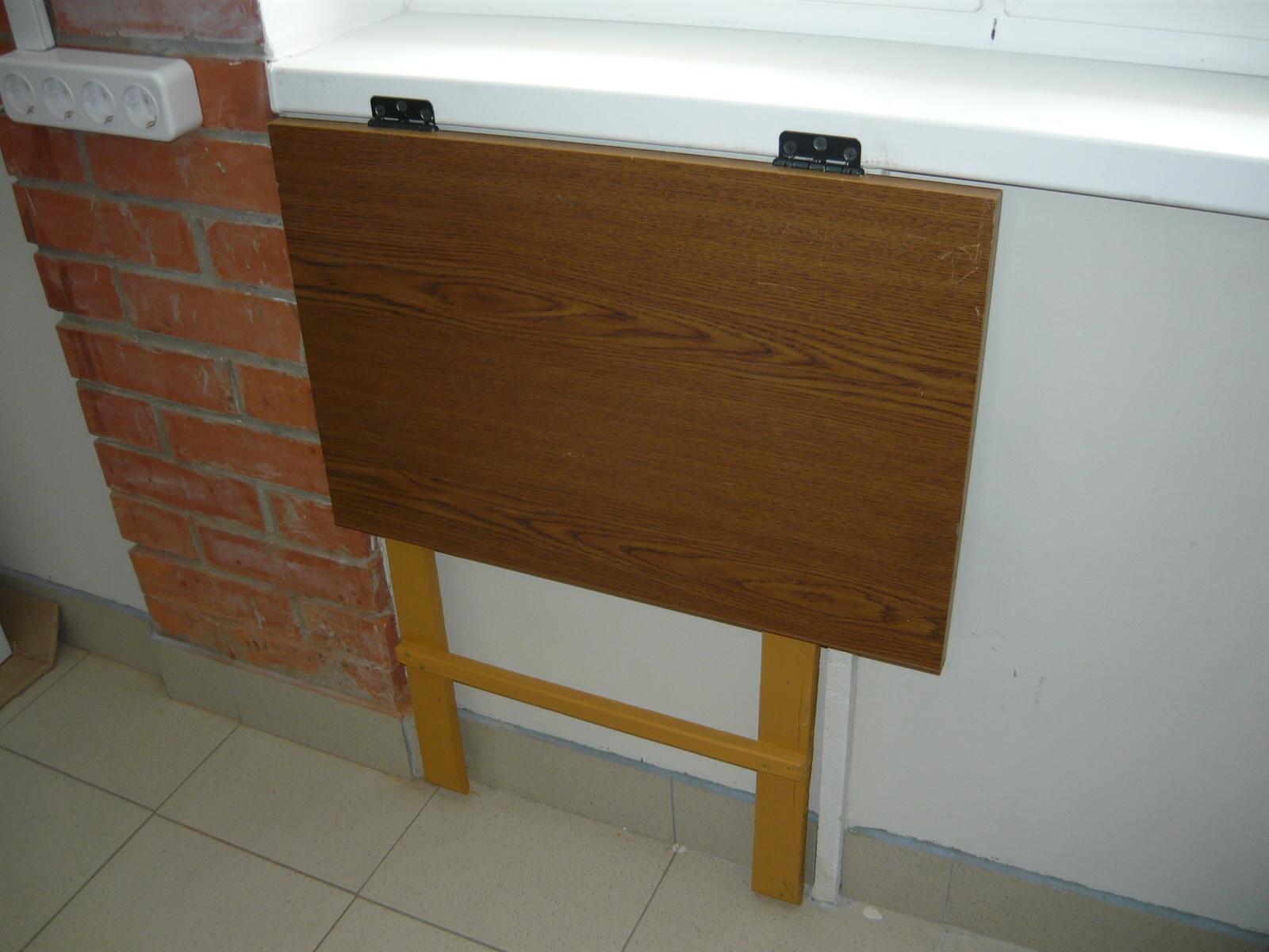 Откидной стол с креплением к стене своими руками в гараже