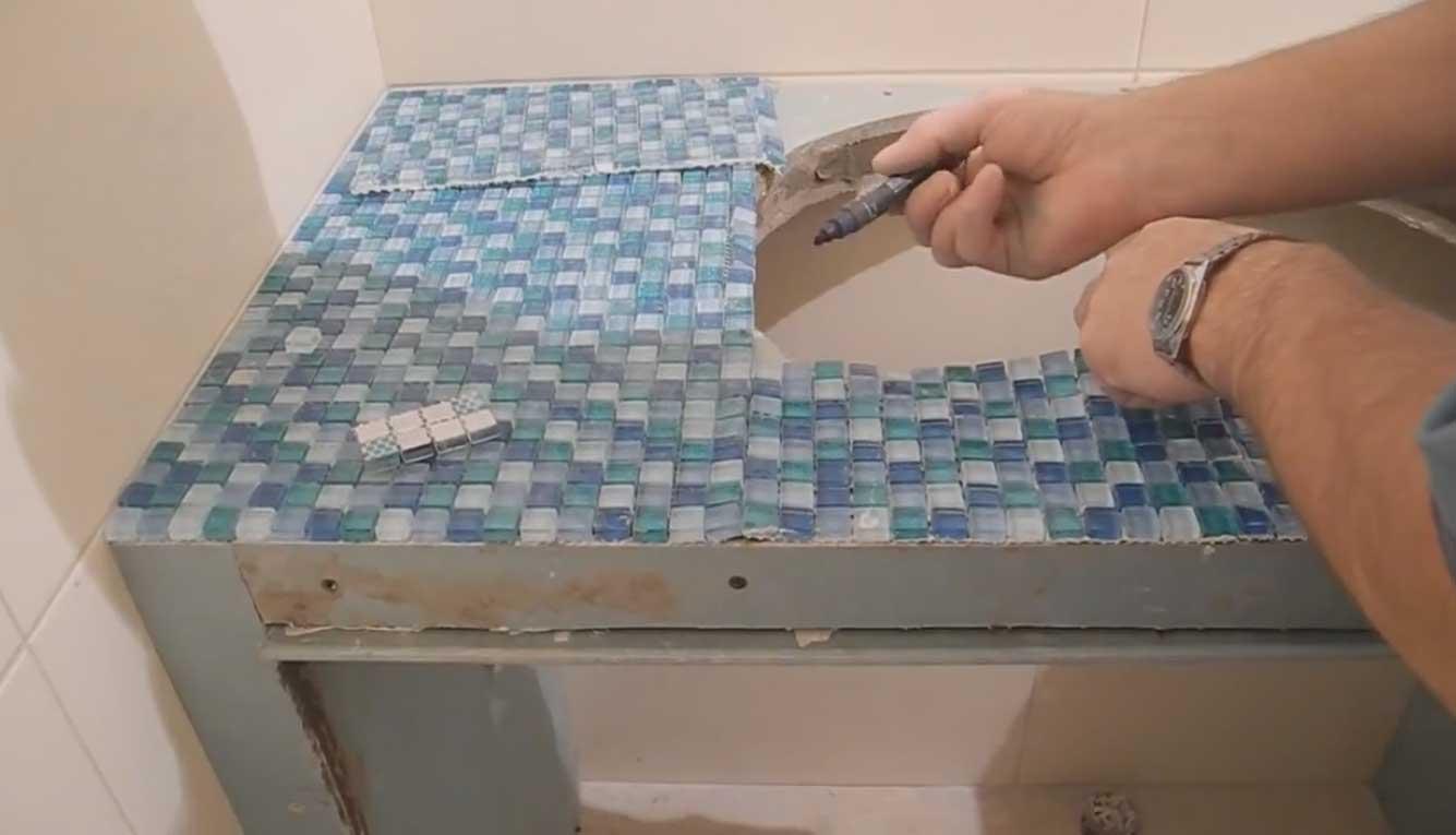 Столешницу своими руками из мозаики 51
