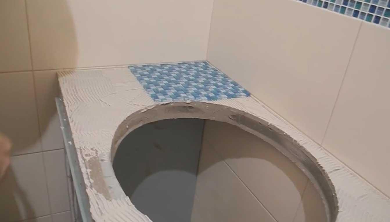 Столешница в ванную из гипсокартона своими руками 86