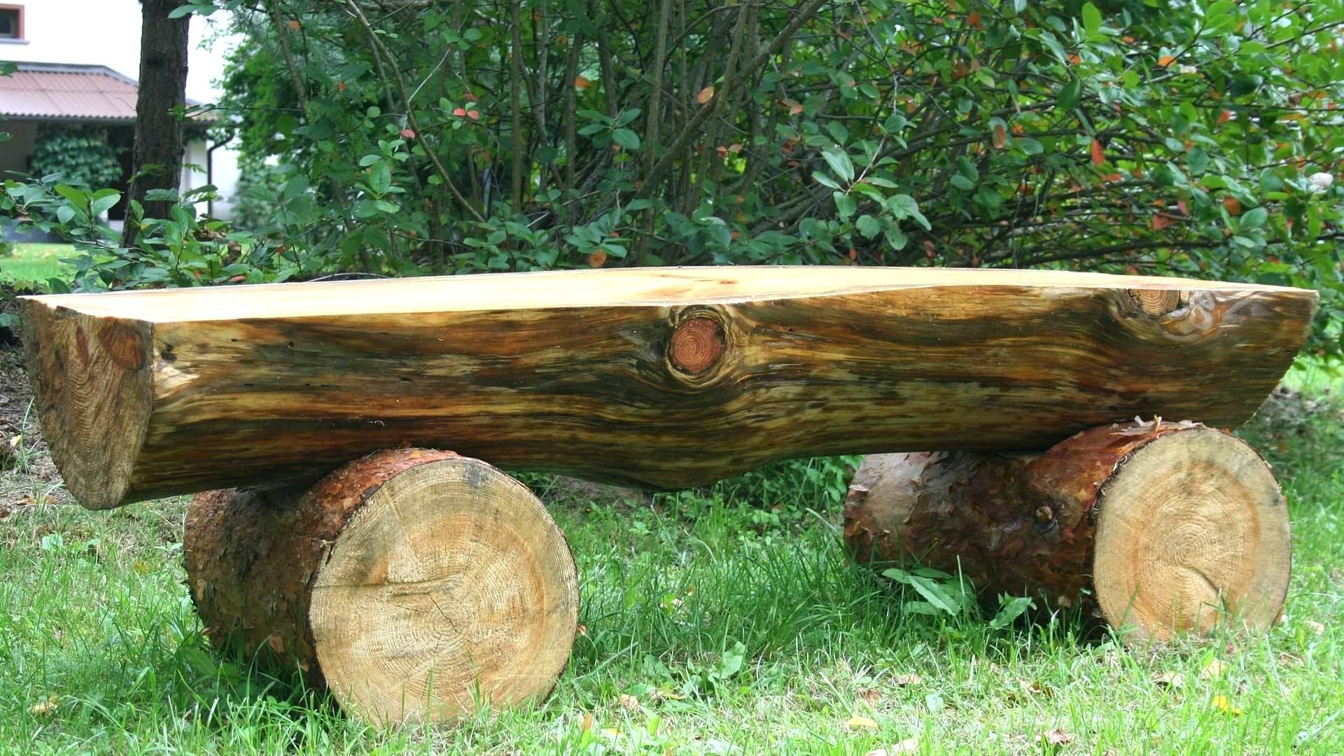 Скамейка из бревна своими руками схема фото 377