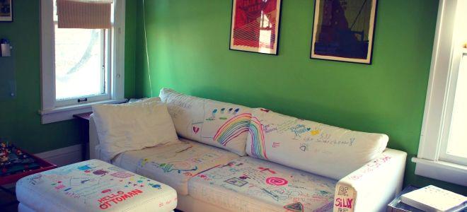 Как вывести следы от фломастера с дивана