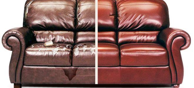 Как самостоятельно отремонтировать кожаный диван