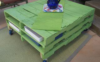 Изготовление стола своими руками из поддонов