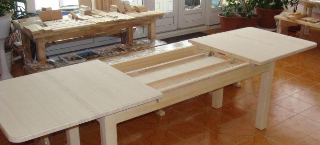 Делаем вместительный раздвижной стол своими руками