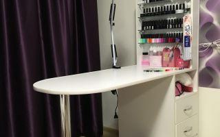 Как самому сделать маникюрный стол?
