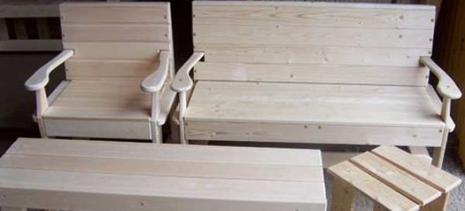 Как сделать деревянный стол для бани своими руками