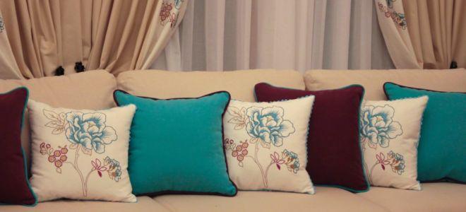 Украшения интерьера: подушки для дивана своими руками