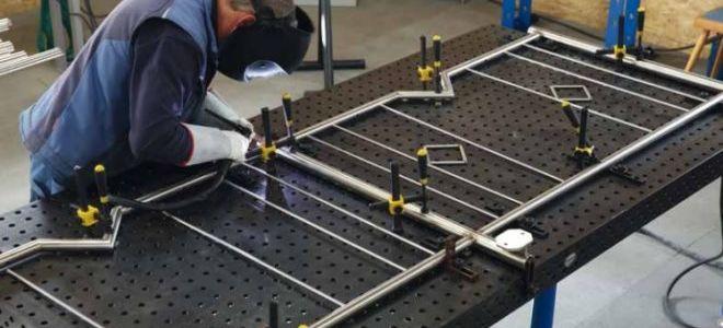 Как сделать сварочный стол (инструкция по изготовлению своими руками)