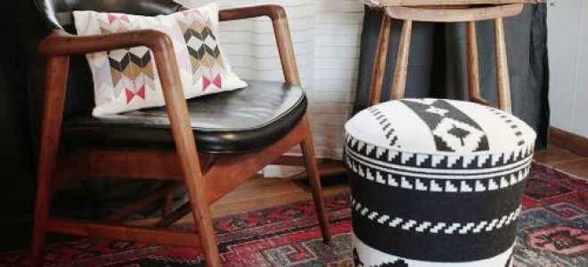 Изготовление круглого пуфика в прихожую своими руками (пошаговая инструкция)