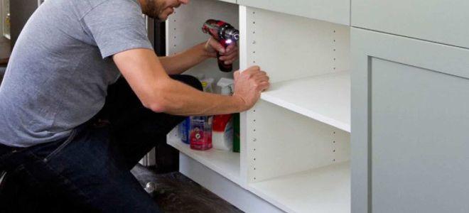 Как сделать кухонный шкаф стандартных размеров своими руками?