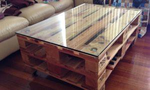 Оригинальный стеклянный стол своими руками