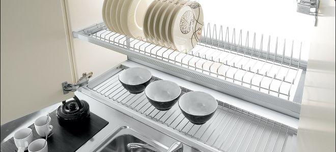 Сушилка для посуды в шкафу: как собрать?