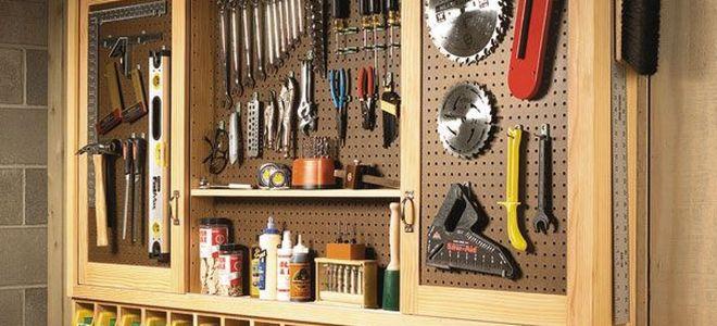 Как своими руками сделать шкаф для инструментов?