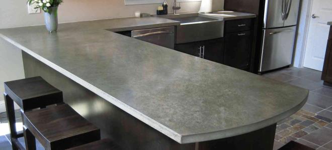 Как сделать бетонные столешницы для кухни своими руками