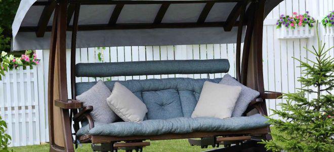 Как сделать диван-качели для дачи своими руками