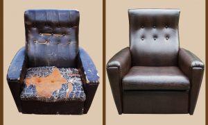Как перетянуть старое кресло своими руками — пошаговая инструкция с фото