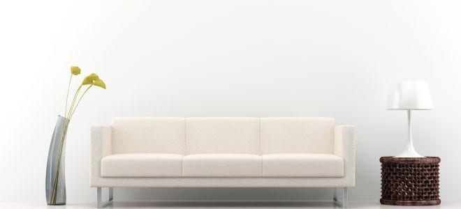 Белый диван в современном интерьере