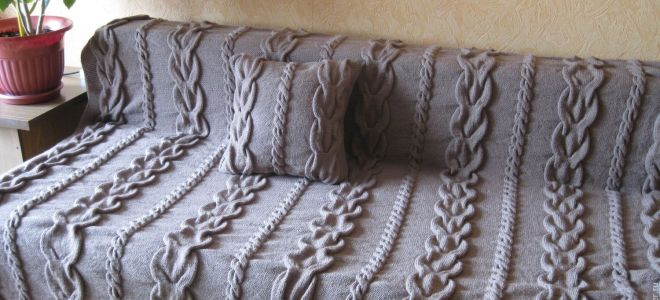 Как сделать красивый плед на диван