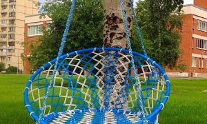 Чудеса плетеного макраме, кресло-гамак созданное своими руками