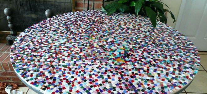 Как сделать оригинальный стол из керамической плитки?