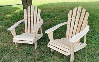 Садовое деревянное кресло, сделанное своими руками
