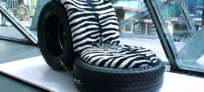 Удобное и практичное кресло из шин своими руками