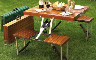 Делаем столик для пикника своими руками