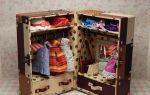 Как из картонных коробок сделать кукольный шкаф?