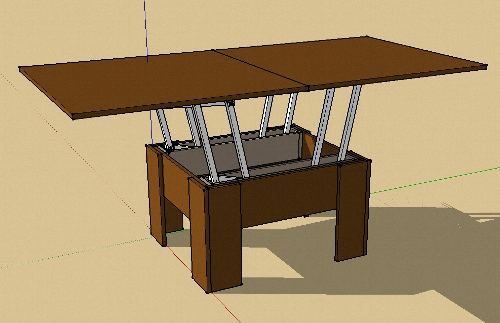 Компьютерная модель стола