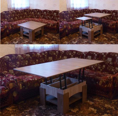 Варианты трансформации стола