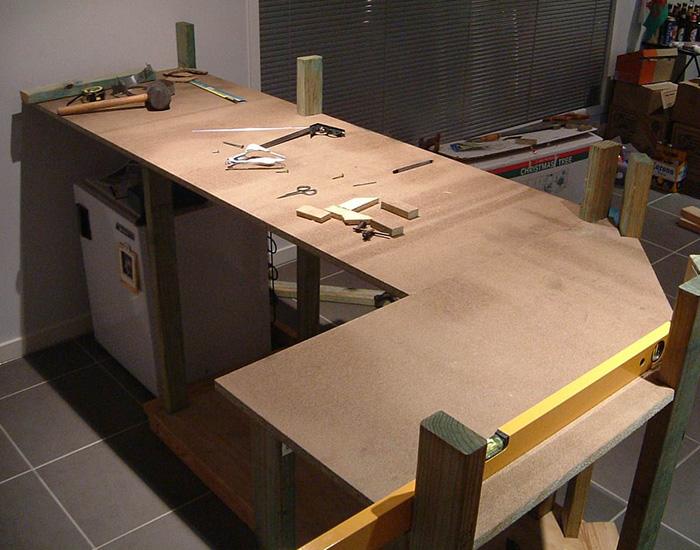 Сооружение кухонной столешницы