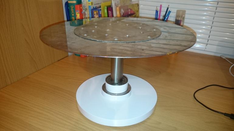 Как сделать крутящийся столик для торта