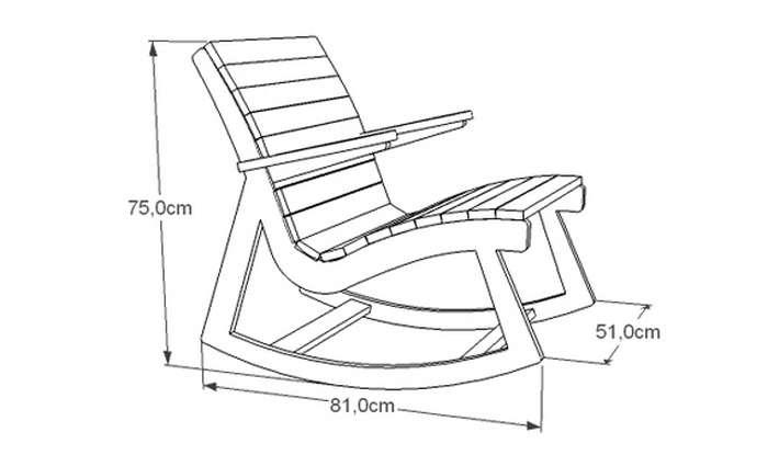 Размеры кресла качалки своими руками из фанеры фото 930