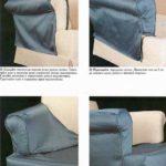 kaki-sshit-chehol-s-perednej-chastju-podlokotnika-150x150 Как сшить чехол на диван своими руками: выкройки и пошив универсального чехла