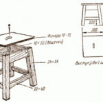 Как сделать табурет своими руками: изготавливаем табурет из дерева, чертеж и пошаговая инструкция