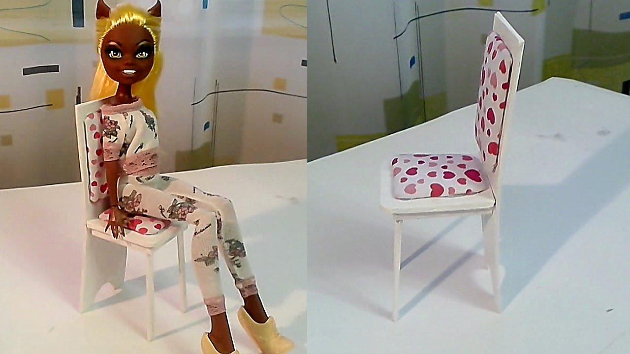 Как сделать кресло на колесиках для кукол 362
