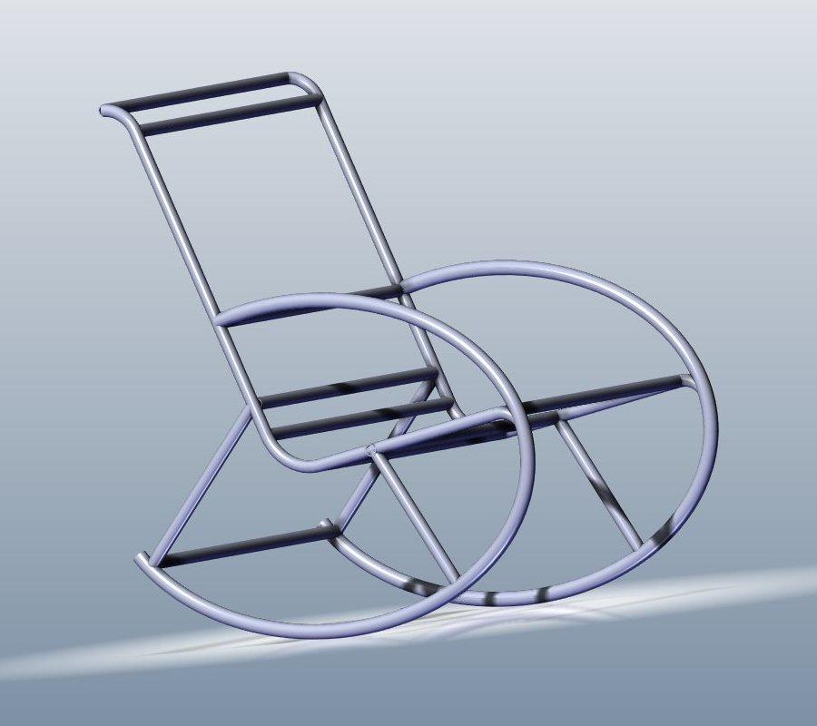 Кресло качалка из пластиковых труб своими руками фото