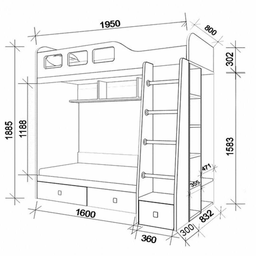 Двухъярусная диван-кровать своими руками чертежи фото 499