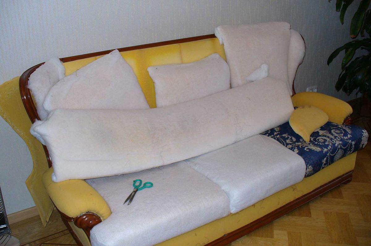 Реставрация старого дивана своими руками фото 214