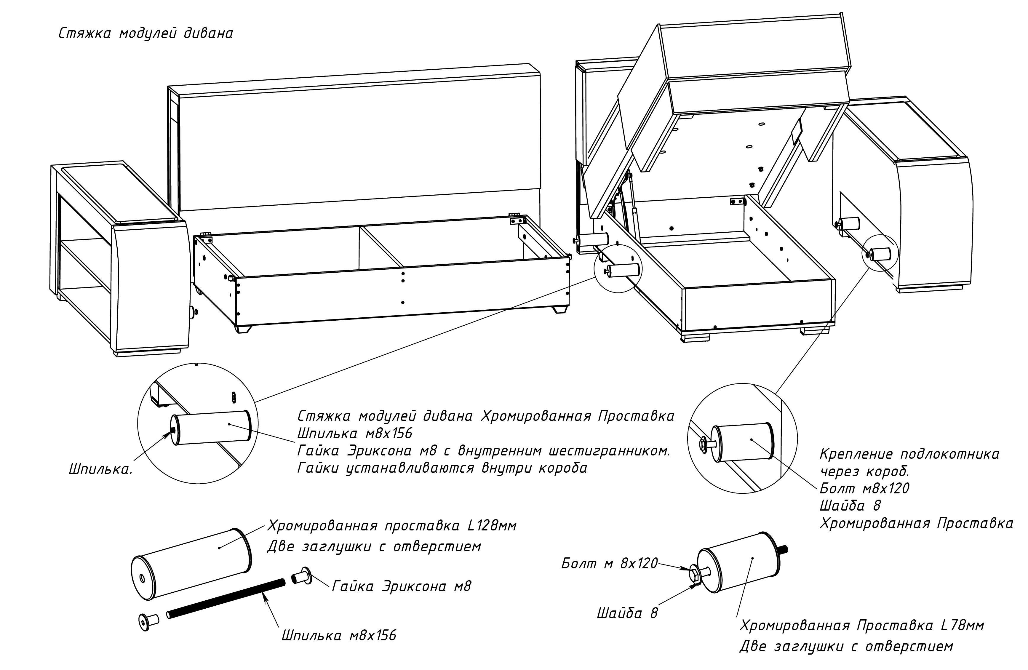 Фото-инструкция по сборке в домашних условиях дивана монако.