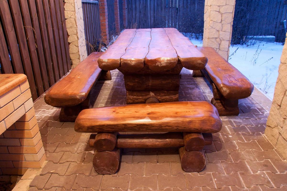 свекольного скамейки и столы из бревна фото вообще, если практикуете