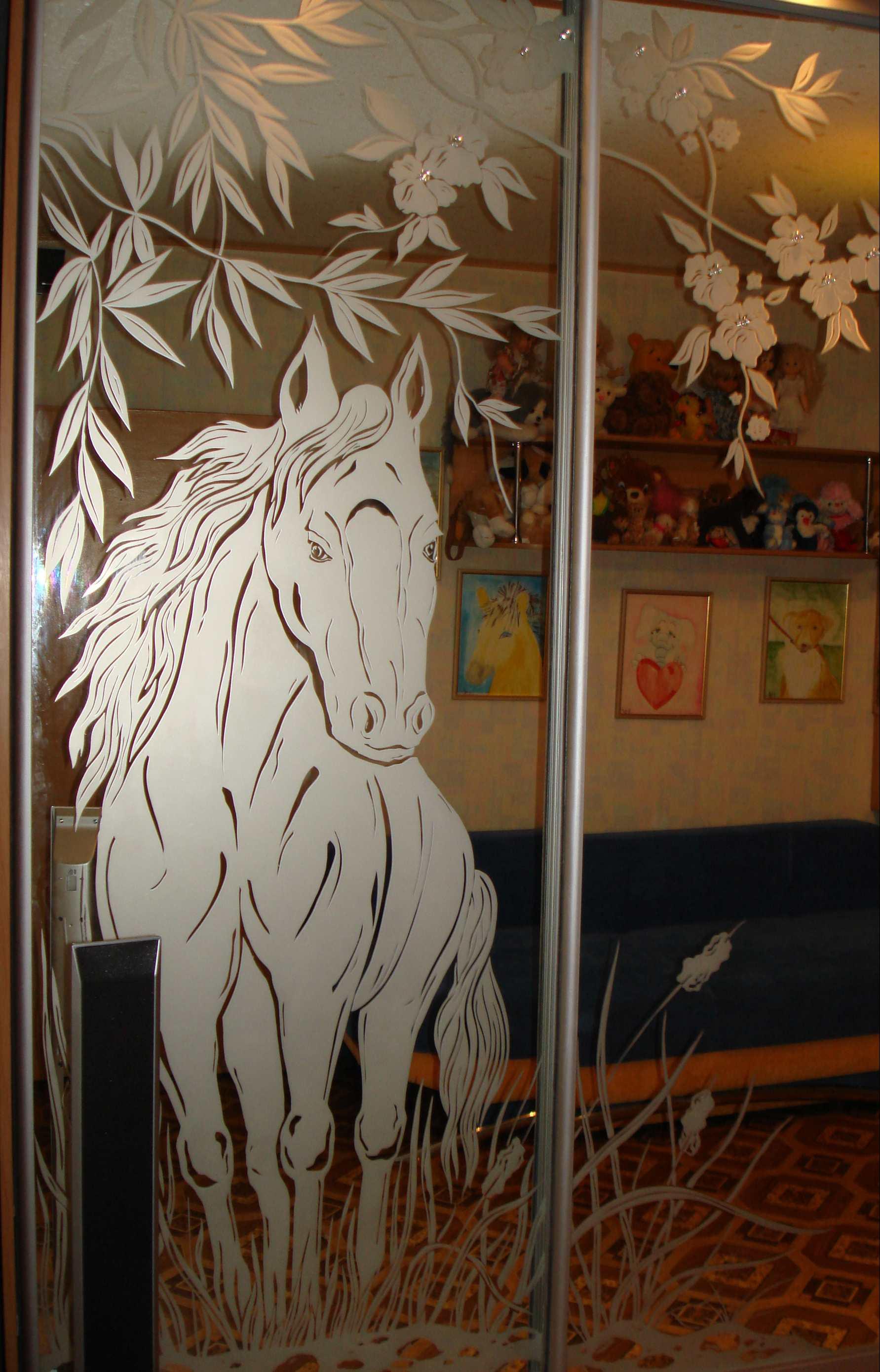 лошади на зеркале картинки для