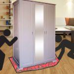 Как передвинуть большой шкаф